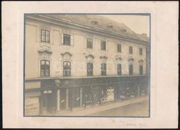 Cca 1910 Abonyi Szobel Feliratú üzlet Aláírt Fotója 14x12 Cm - Altre Collezioni