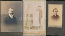 Cca 1900 3 Db Családi, Keményhátú Fotó - Altre Collezioni