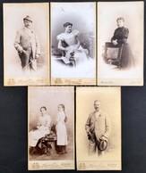 Cca 1910 5 Db Keményhátú Fotó Mertens és Társa Budapesti Műterméből, Különböző Méretben - Altre Collezioni