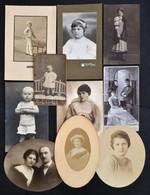 Cca 1910-1940 Régi Idők Portréi, 10 Db Különféle Közepes/normál Méretű Portréfotó, Különböző Méretben - Altre Collezioni