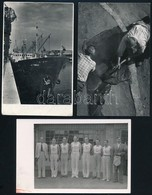 Cca 1948 Tiszavölgyi József: BSZKRt SE Sportolói, Jelzetlen Fotólap Tiszavölgyi József Hagyatékából, 9x14 Cm +  Cca 1950 - Altre Collezioni
