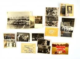 Cca 1940-1983 Vegyes Fotó Tétel, 18 Db, Közte A Hátoldalakon Feliratozottakkal, Benne Két Igazolvánnyal, 13x18 Cm és 8x5 - Altre Collezioni