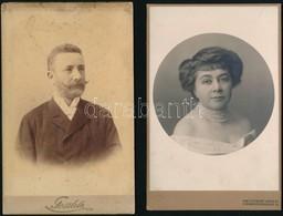 Cca 1880-1900 18 Db Kabinet Fotó, Némelyik Nevesítve 11x17 Cm - Altre Collezioni