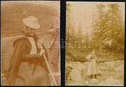 Cca 1900 Női öltözetek, 7 Db Fotó, 18×12 Cm - Altre Collezioni