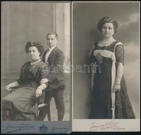 Cca 1910 Kolozsvár, A Joánovics Testvérek Műtermében Készült, 2 Db Vintage Fénykép, 20x11 Cm - Altre Collezioni
