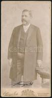 Cca 1910 Budapest, Ellinger Ede Műtermében Készült Vintage Fénykép, Az ábrázolt Személy Nehezen Olvasható Aláírásával, V - Altre Collezioni