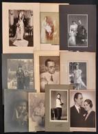 Cca 1910-1940 Régi Idők Portréi, 10 Db Különféle Nagyméretű Portréfotó, Különböző Méretben - Altre Collezioni