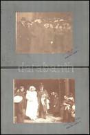 Cca 1910 7 Db Magas Státuszú Családi Esküvőt ábrázoló Fotó Kartonon 24x18 Cm - Altre Collezioni
