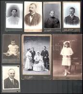 Cca 1880-1910 10 Db Keményhátú Fotó Klf Méretben - Altre Collezioni
