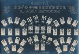 1954 A Szentesi Csecsemő- és Gyermekgondozónőképző Iskola Tanárai és Végzett Növendékeik Kistablója, 44 Nevesített Portr - Altre Collezioni