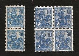 France Paire Et Bloc De 4 N°257 NFSCH ** MNH Cote Totale Yvert 2009 = 21.00 € Nuance De Bleu Nette - Unused Stamps