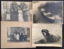 Cca 1910-1940 Vegyes Fotó Tétel, 8db, Fotó, Fotó Kartonon, Valamint Egy Fotó Művészfólián Keresztül, Köztük Kutyaportrév - Altre Collezioni