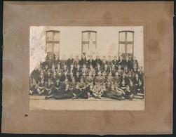 1932 Öreg Leventék Leszereléskor, Kartonra Kasírozott Fotó, Sérült, 12×16 Cm - Altre Collezioni