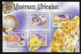 CENTRAFRIQUE   Feuillet  N° 2012/15  * *  ( Cote 15e ) Mineraux Africains - Mineralien