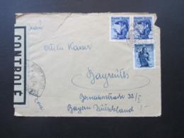 Österreich 1949 Zensurbeleg / Controle Ouvert Par Les Controle Trachten MiF Mit SST Nach Bayreuth - 1945-60 Cartas