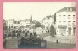 59- TOURCOING - Carte Photo - La Grand Place - Tram - Tramway - Calèches - Tourcoing