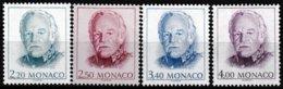 Série De 4 Timbres-poste Gommés Neufs**  Série Courante Effigie De S.A.S. Rainier III - N° 1779/82 (Yvert) - Monaco 1990 - Monaco
