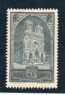 CATHEDRALE REIMS YT 259 B Type III - NEUF AVEC TRACE DE CHARNIERE - COTE 460 € à 20 % - Francia