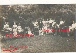 """90 // BERMONT    Carte Photo    JEU DE CROQUET """" Le Rayon De Soleil """" Vallon De BERMONT 1912 - Autres Communes"""