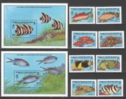D259 1990 TURKS & CAICOS IS. FISH MARINE LIFE #920-7 MICHEL 27 EURO 2BL+SET MNH - Meereswelt