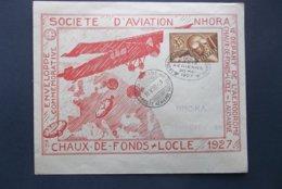 Helvetia: 1927 Aerienne Postal Envelope To ChaudeFonds (#EV4) - Covers & Documents