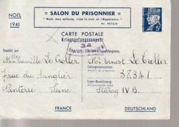 WW2,Correspondance  France Petain  Carte Postale  Stalag IV B (Mühlberg) - Marcophilie (Lettres)