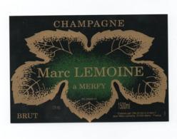 """Etiquette Du Champagne      """"  Marc   Lemoine - Champagne"""