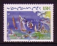 FRANKREICH MI-NR. 3812 POSTFRISCH(MINT) EUROPA 2004 - FERIEN SEGELBOOTE GEMÄLDE - Europa-CEPT