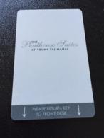 Hotelkarte Room Key Keycard Clef De Hotel Tarjeta Hotel  THE PENTHOUSE SUITES AT TRUMP TAJ MAHAL - Telefonkarten