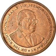 Monnaie, Mauritius, 5 Cents, 1987, TTB, Copper Plated Steel, KM:52 - Mauricio