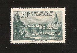France N°394  Avec Charniére Lègére * MH Cote Yvert 2009 = 45.00 € - France
