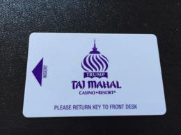 Hotelkarte Room Key Keycard Clef De Hotel Tarjeta Hotel   TRUMP TAJ MAHAL - Telefonkarten