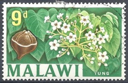 Malawi, 1964 Country Views- Tung, 9p Multicolored  # S.G. 220 - Michel 7 - Scott 11  USED - Malawi (1964-...)