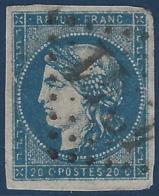 BORDEAUX 1870 N°44 Type I Rep 2 Obl GC 4241 Villefranche De Lauraguais (bel Aspect) Signé Calves - 1870 Emisión De Bordeaux