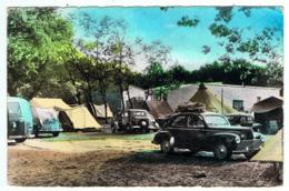 """Quend-Plage / Le Camping / Peugeot Fourgon D3-D4 Et 203 / Oblitération """" Daguin """" - Passenger Cars"""
