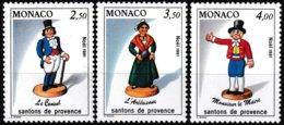 Série De 3 T.-P. Neufs** - Santons De Provence Le Consul L'Arlésienne Monsieur Le Maire - N° 1794/6 (Yvert)  Monaco 1991 - Monaco
