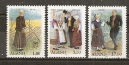 Aland 1993 Costumes Set Complete MNH ** - Aland