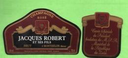 """Etiquette Du Champagne      """"    J. Robert  Président Du Zaire - Champagne"""