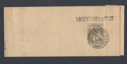 N° Y/T 107 Type Blanc Sur  Bande Journal Oblitéré 14/05/1912 Journaux Nantes PP 3 MP 1/2 Centime En Plus - Marcofilia (Sellos Separados)