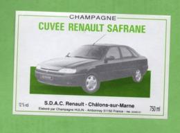 "Etiquette Du Champagne      ""   Hulin   Cuvée  Renault  Safrane - Champagne"