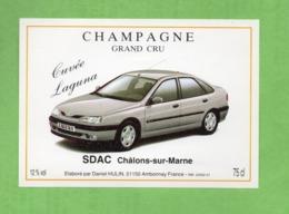"Etiquette Du Champagne      ""   Hulin   Cuvée  Renault   Laguna - Champagne"