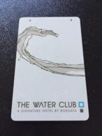 Hotelkarte Room Key Keycard Clef De Hotel Tarjeta Hotel THE WATERCLUB  By BORGOTA ATLANTIC CITY - Telefonkarten