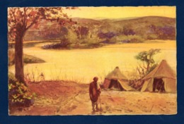 Palestine. Le Jourdain. Illustrateur  Rodolfo Paoletti ( 1866-1940) - Palestine