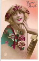 L55B087 - Bonne Année - Portrait Jeune Femme  - Dédé N°688 - Nieuwjaar