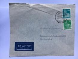 GERMANY 1950 Allied Cover Hamburg To Halifax Canada Air Mail - Bizone