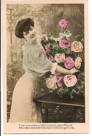 """L55B092 - Bonne Année - Portrait Jeune Femme """"Acceptez Cette Offrande....""""  - - Nieuwjaar"""