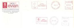 "1991 Deux EMA ""Evian"" ,Jeux Olympiques Albertville : (n° F 4423 Evian  ; T 345). - Hiver 1992: Albertville"