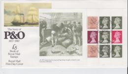 Great Britain FDC 1987 The Story Of P & O Sheet (NB**LAR8-59A) - Barche