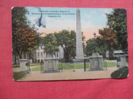 Cenotaph- Georgia Signers Of Declaration Of Independence   Has Crease  Georgia > Augusta Ref 3717 - Augusta