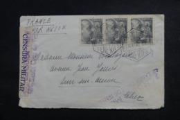 ESPAGNE - Cachet De Censure De Tenerife Sur Enveloppe Pour La France En 1941 , Affranchissement Plaisant - L 46778 - Marques De Censures Nationalistes